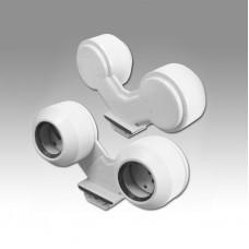Ламподержатель ELM Двойной для ламп Т8 (D26mm) G13  Q-1602
