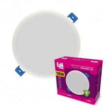 Светильник потолочный встраиваемый светодиодный круглый  ELM 12Вт 4000К Grace IP20 26-0091