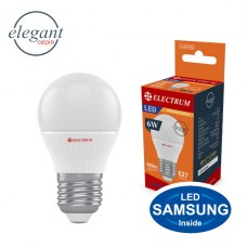 Лампа светодиодная шар ELECTRUM 6W E27 3000K A-LB-1010