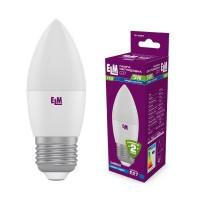 Лампа светодиодная свеча ELM 5W E27 4000K 18-0081