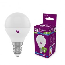 Лампа светодиодная шар ELM 7W E14 4000K 18-0164