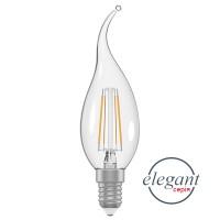Лампа светодиодная свеча на ветру LC-4F 4W E14 4000K стекло A-LC-1368