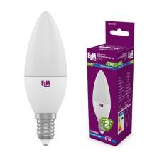 Лампа светодиодная свеча ELM 7W E14 4000K 18-0161