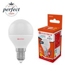 Лампа светодиодная шар ELECTRUM 6W E14 3000K A-LB-1871