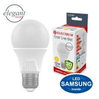 Лампа светодиодная стандартная ELECTRUM 12W E27 3000K A-LS-1920
