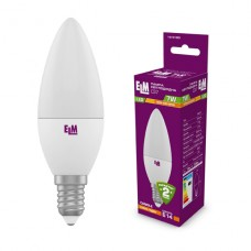 Лампа светодиодная свеча ELM 7W E14 3000K 18-0160