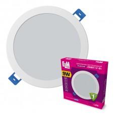 Светильник светодиодный встраиваемый Disk-V 9W 6500К IP20 белый 26-0055.