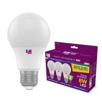 Комплект ламп светодиодных стандартных  8W E27 4000K  3шт. 18-0187