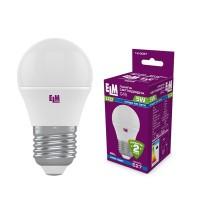 Лампа светодиодная шар PA10 5W E27 4000K алюмопласт. корп. 18-0087