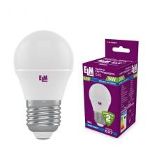 Лампа светодиодная шар ELM 5W E27 4000K 18-0087
