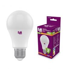 Лампа светодиодная стандартная ELM  8W B60  E27 3000K 18-0185