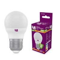 Лампа светодиодная шар PA10 6W E27 3000K алюмопласт. корп. 18-0093