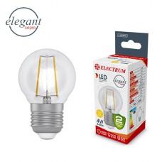Лампа светодиодная шар-ретро прозрачный стеклянный корпус ELECTRUM  4W E27 2900K A-LB-0412