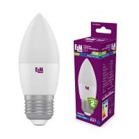Лампа светодиодная свеча PA10 4W E27 4000K алюмопластиковый корп. 18-0079