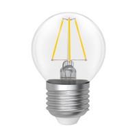 Лампа светодиодная шар-ретро 4W E27 4000K ELECTRUM прозрачный стеклянный корпус A-LB-1386