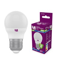 Лампа светодиодная шар ELM 6W E27 4000K 18-0051