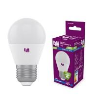 Лампа светодиодная шар PA10 8W E27 4000K алюмопласт. корп. 18-0166