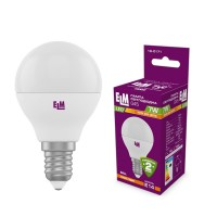 Лампа светодиодная шар PA10 7W E14 3000K алюмопластиковый корп. 18-0171