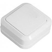 Выключатель накладной одноклавишный ELM Simply белый  41-0001