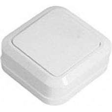 Выключатель накладной одноклавишный  Simply белый 41-0001 ELM