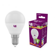 Лампа светодиодная шар PA10 4W E14 3000K алюмопласт. корп. 18-0082