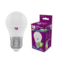 Лампа светодиодная шар ELM 3W E27 4000K 18-0121