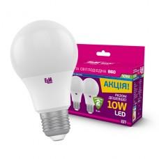 Лампа светодиодная стандартная 10W B60 E27 4000K Комплект 3 шт. 18-0150