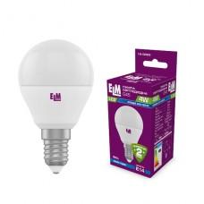 Лампа светодиодная шар ELM 4W E14 4000K 18-0083