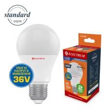 Лампа светодиодная стандартная LS-11.LV 10W E27 4000K алюмопл. корп. 36V A-LS-0758