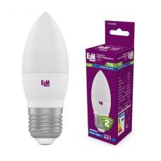 Лампа светодиодная свеча ELM 7W E27 4000K 18-0049