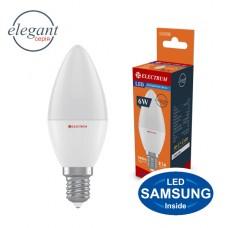 Лампа светодиодная свеча ELECTRUM 6W E14 4000K  A-LC-0725