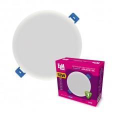 Светильник потолочный встраиваемый светодиодный круглый  ELM 12Вт 6500К Grace IP20  26-0065