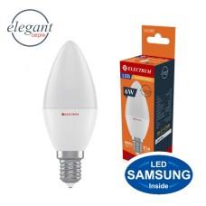 Лампа светодиодная свеча LC-12 6W E14 3000K алюмопластиковый корп.  A-LC-1007