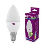 Лампа светодиодная свеча PA10 4W E14 4000K алюмопластиковый корп. 18-0077