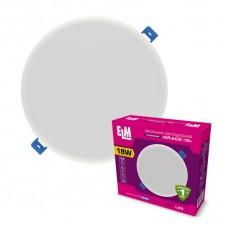 Светильник потолочный встраиваемый светодиодный круглый ELM 18Вт 6500К Grace IP20 26-0066