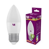 Лампа светодиодная свеча PA10 5W E27 3000K алюмопластиковый корп. 18-0080