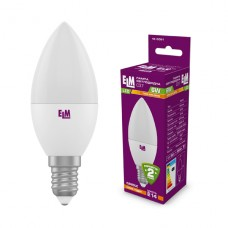 Лампа светодиодная свеча ELM 6W E14 3000K 18-0091