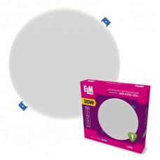 Светильник потолочный встраиваемый светодиодный круглый ELM 30Вт 6500К Grace IP20 26-0068