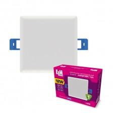 Светильник потолочный встраиваемый светодиодный квадратный ELM 12Вт 6500К Master IP20 26-0070