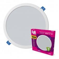 Светильник потолочный встраиваемый светодиодный круглый ELM 15Вт 6500К Disk-V IP20  26-0060