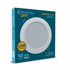 Светильник потолочный светодиодный встраиваемый круглый  CRYSTAL GOLD SAPFIR M- 12W 6500K  DNL-027
