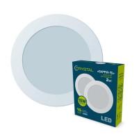 Светильник потолочный светодиодный встраиваемый круглый 15W 4000K SAPFIR (комплект 2шт.) CRYSTAL DNL-004