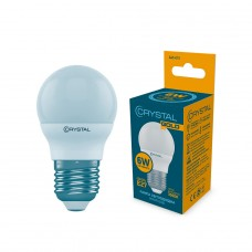 Лампа светодиодная шар 6W E27 3000K CRYSTAL GOLD G45-015