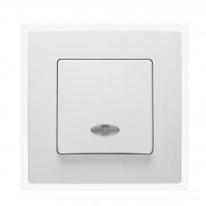 Выключатель 1-клавишный с подсветкой Makel