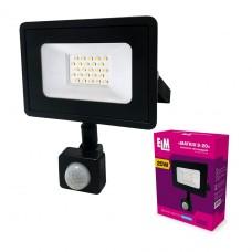 Прожектор светодиодный Matrix S-20-41 с ИКД 20W 6500К  26-0035