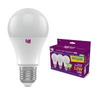Комплект ламп светодиодных стандартных ELM 12W E27 4000K 3шт. 18-0152