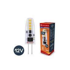 Лампа светодиодная капсула ELECTRUM 2W G4 12V 3000K силиконовый корпус A-LC-0908