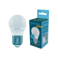 Лампа светодиодная шар 7W E27 4000K CRYSTAL GOLD  G45-020